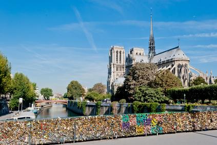 Notre Dame, Paris, view from Pont de l'Archevéché