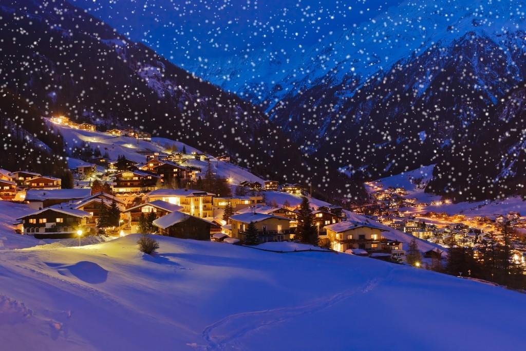 The Mountains ski resort in Solden, Austria
