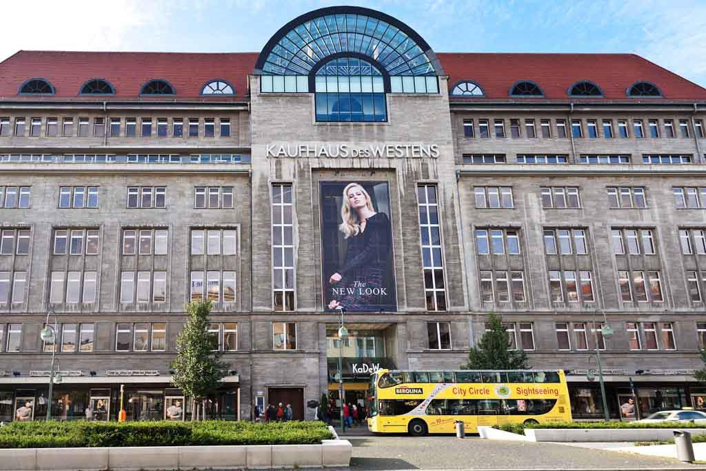 Das KaDeWe oder Kaufhaus des Westens in Berlin