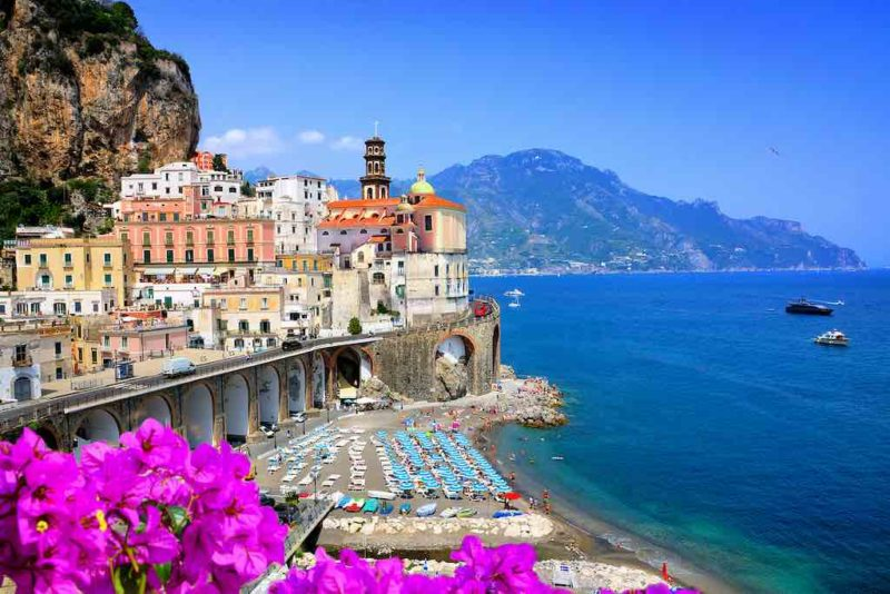 View of Atrani, Amalfi Coast, Italy