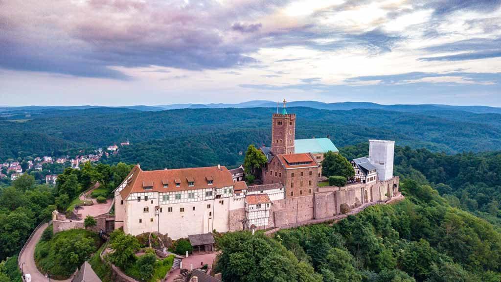 Blick auf die Wartburg in Thüringen