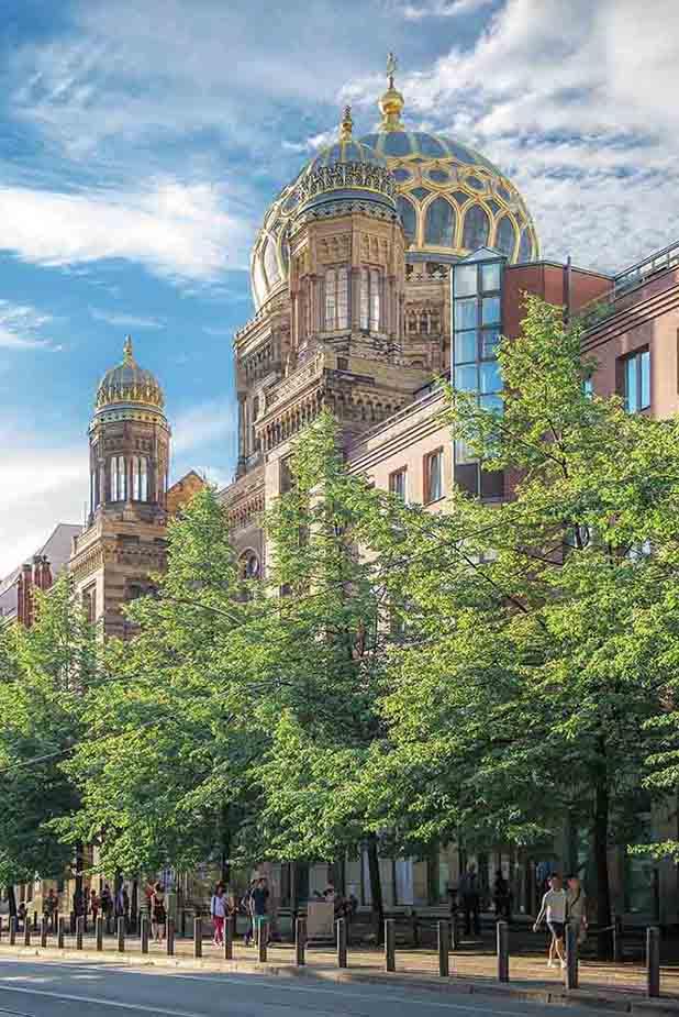 DieNeue Synagoge im Ortsteil Mitte
