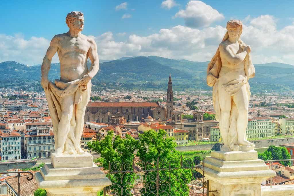 Der wunderschöne Panorama-Blick vom Boboli-Garten in Florenz