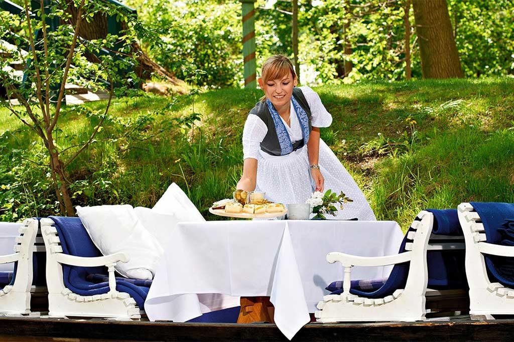 Die Bleiche hat eine eigene Kahnstation   Foto: © Bleiche Resort & Spa