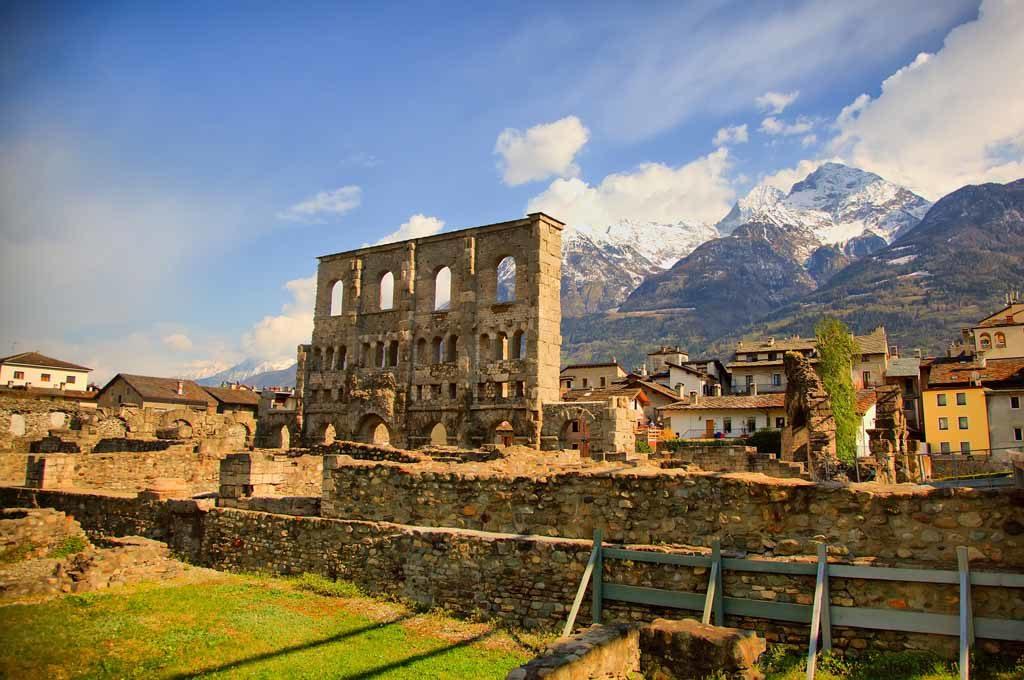 Aosta in den italienischen Alpen