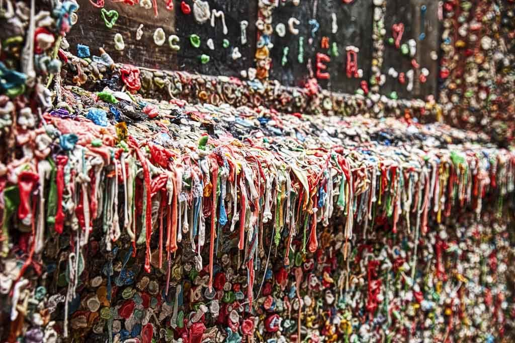 Der Dirty Gum Wall in Seattle (Foto: Bigstock)