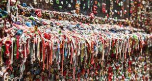 Der Dirty Gum Wall in Seattle (Foto: Bigstock)