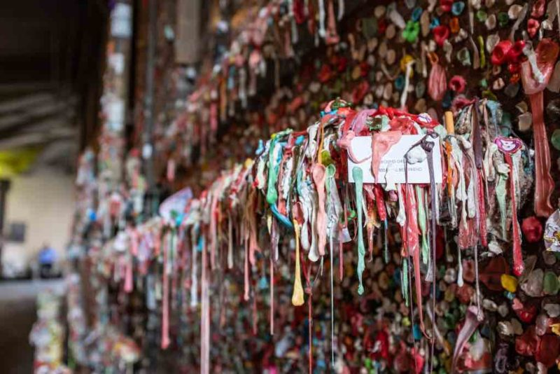 Der Dirty Gum Wall in Seattle