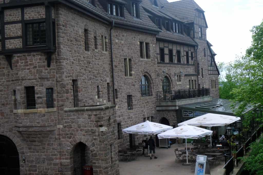 Romantik Hotel auf der Wartburg – Wartburg-Terrasse an der Nordseite