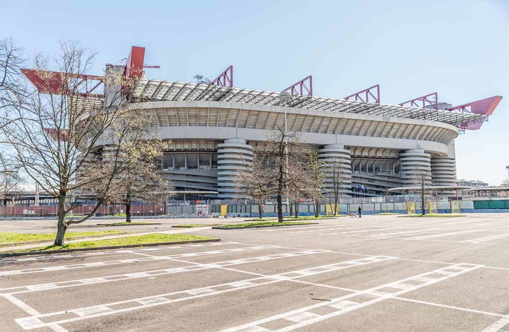 Die San Siro Arena in Mailand