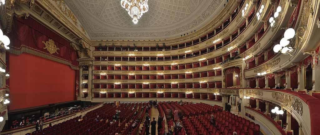 Blick in den Zuschauerraum des Teatro alla Scala