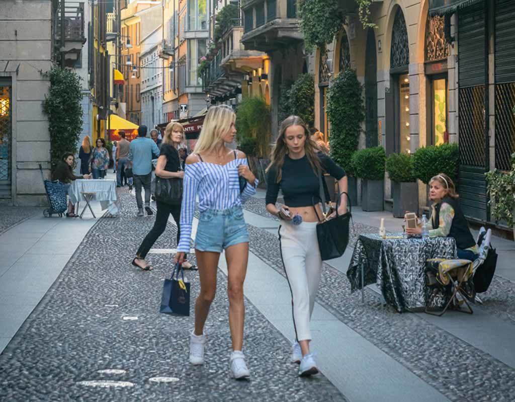 Brera District in Mailand