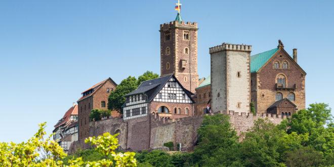 Blick auf die berühmte Wartburg - ein Weltkulturerbe in Thüringen, Deutschland