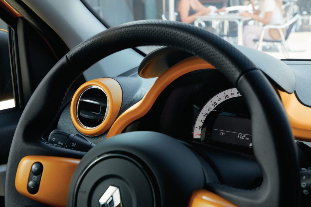 Renault Twingo mit farbiger Applikation Foto: Renault