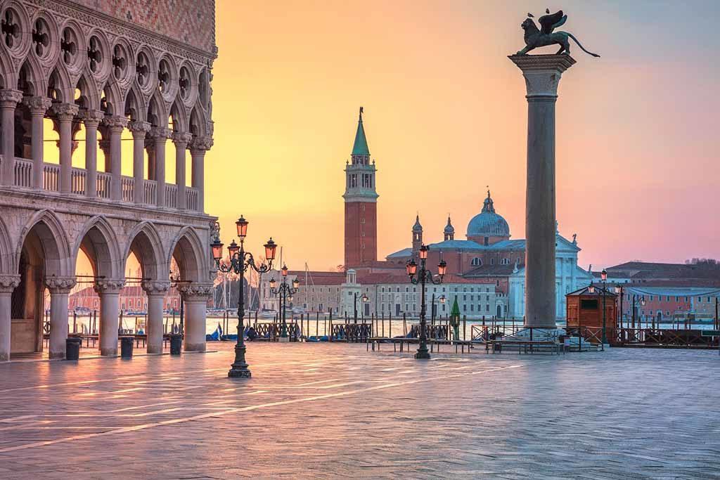 Blick auf Venedig vom Markusplatz gesehen