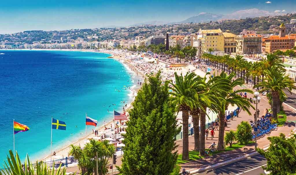 Die legendäre Promenade des Anglais in Nizza war einst die bevorzugte Flaniermeile für britische Aristokraten