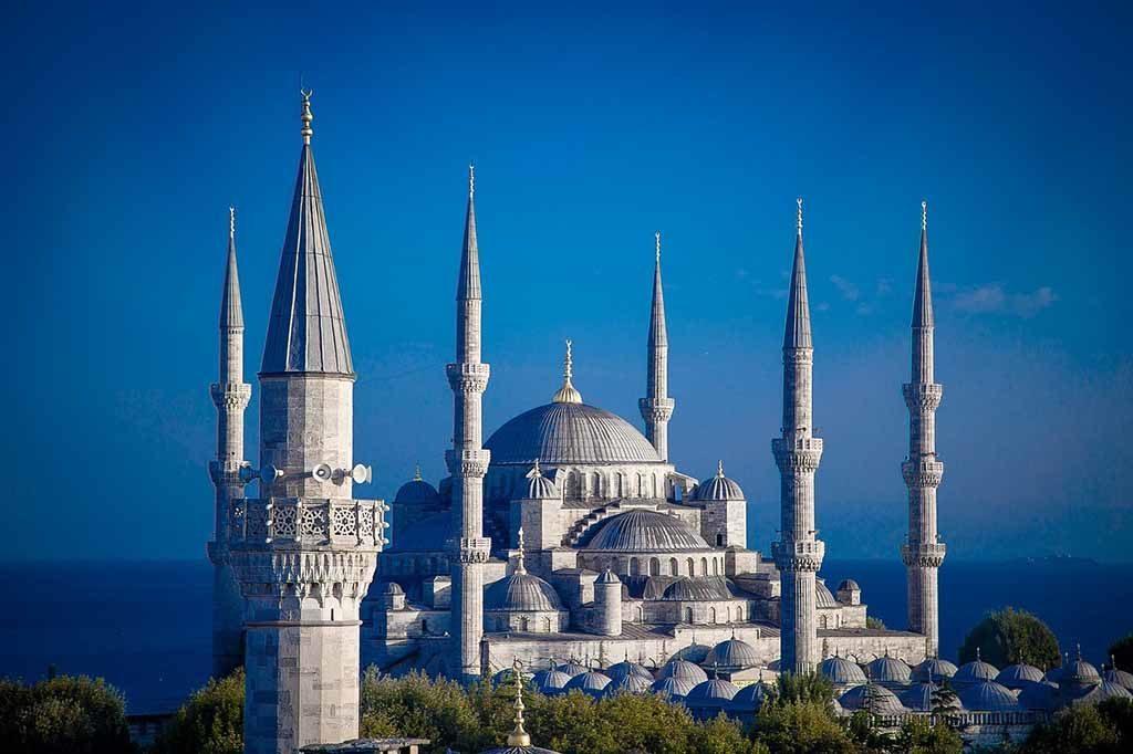 Die blaue Moschee in Istanbul, Türkei
