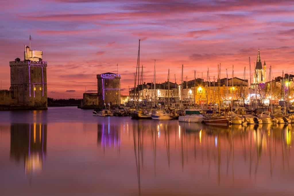 Der verträumte Hafen von La Rochelle an Frankreichs Atlantikküste