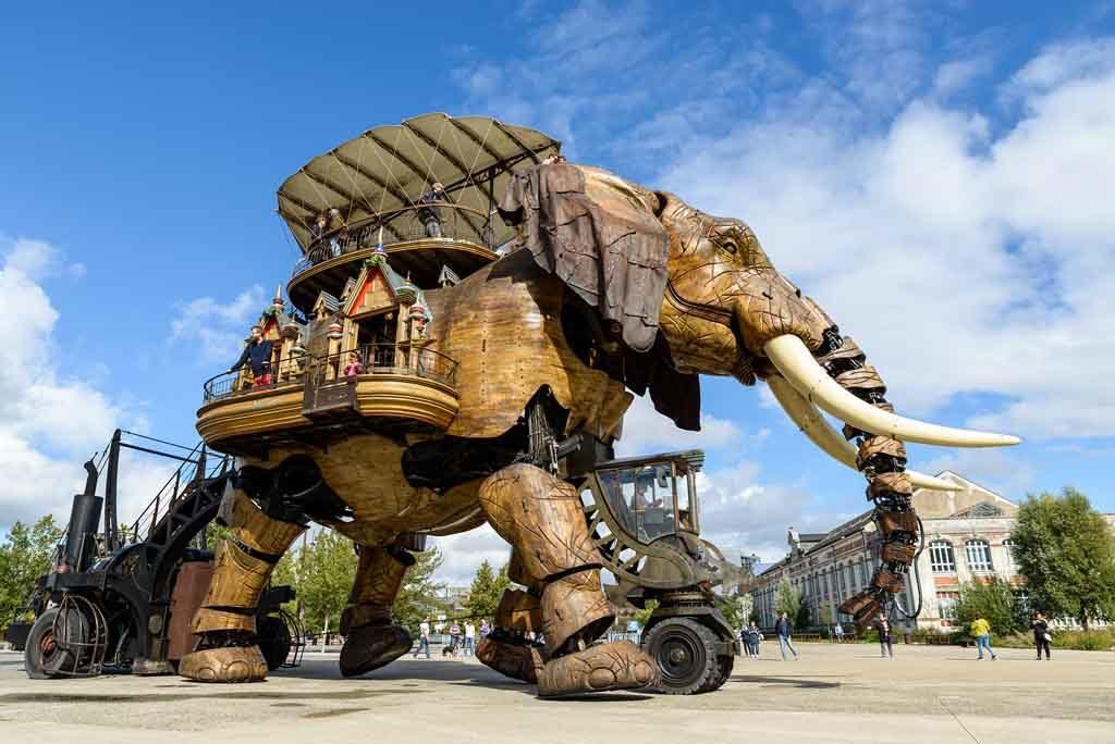Nantes in Westfrankreich ist übersät mit Kunstprojekten