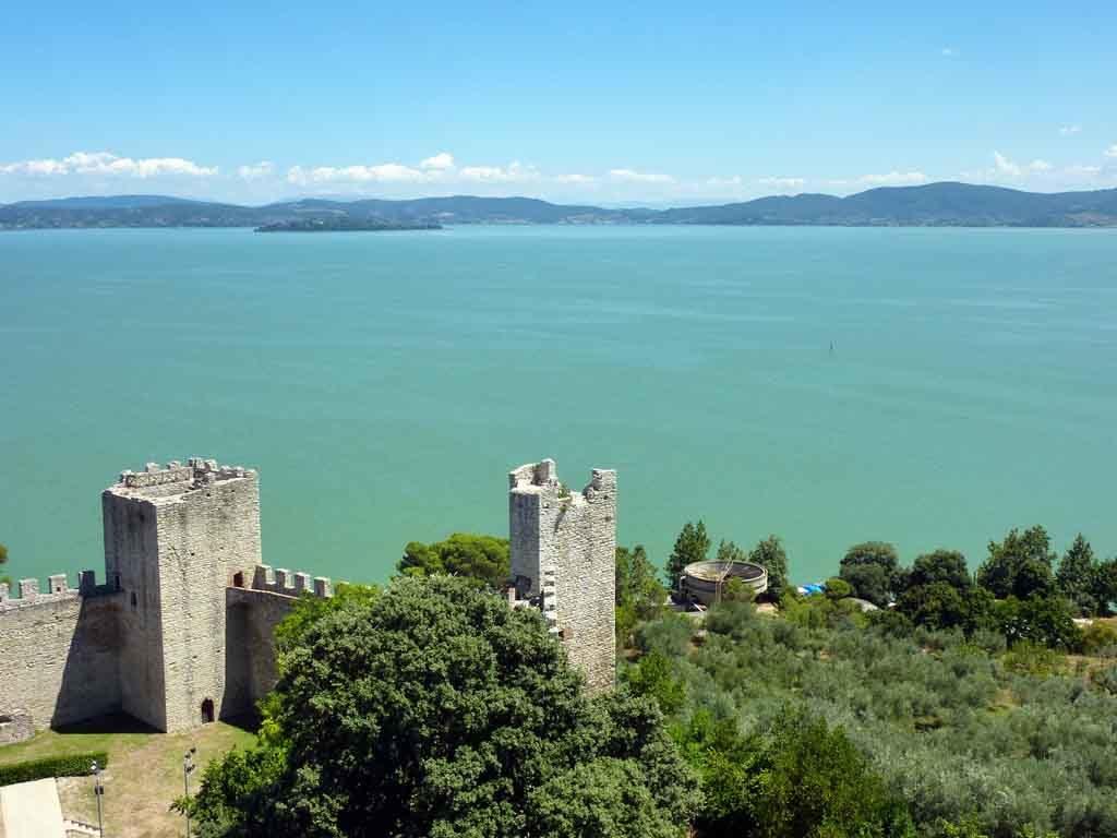 Der Trasimenische See in Italien