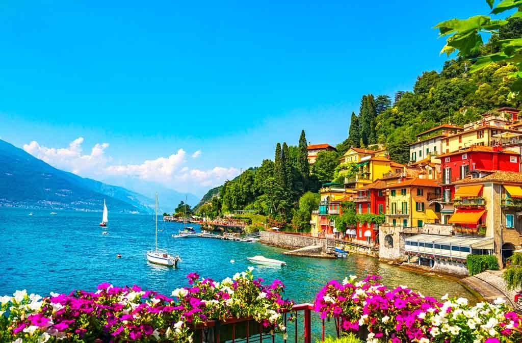Der Comer See ist die Nummer 3 auf der Liste der größten Seen in Italien