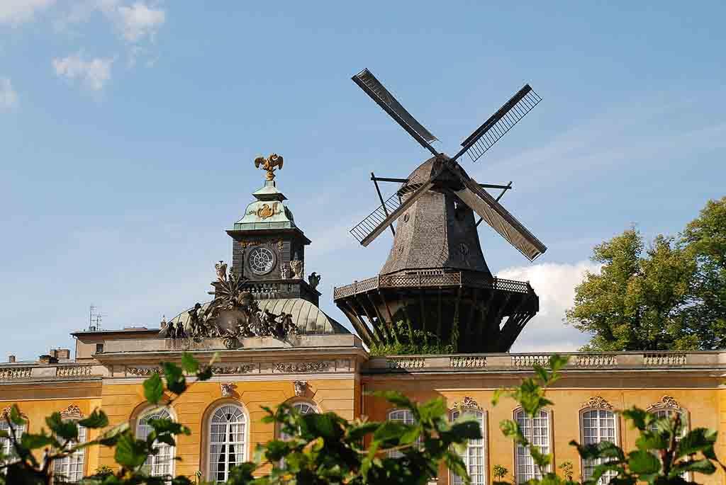 Die Historische Mühle auf dem Potsdamer Mühlenberg