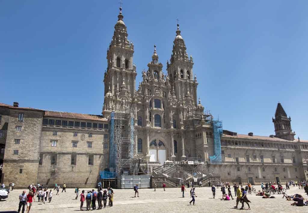 Die Kathedrale von Santiago de Compostela ist Ziel des Jakobsweges