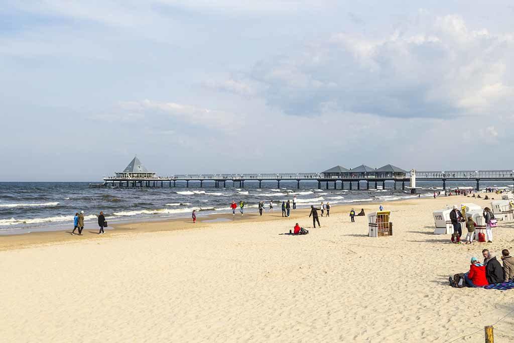 Der feinsandige Strand von Heringsdorf