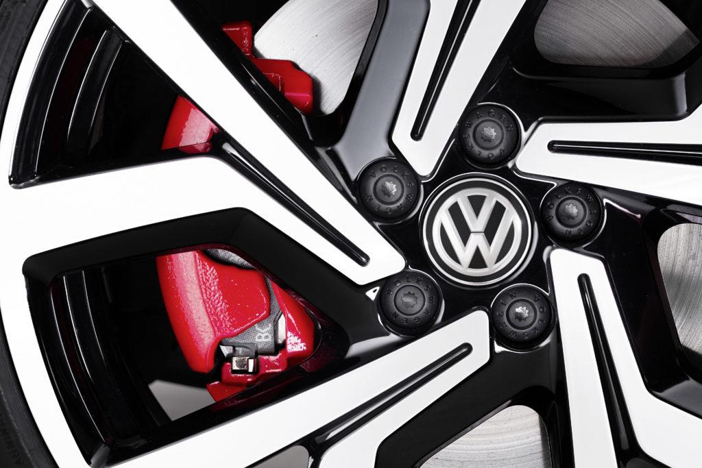 VW Polo GTI mit glanzgedrehten 18-Zoll-Felgen Foto: VW