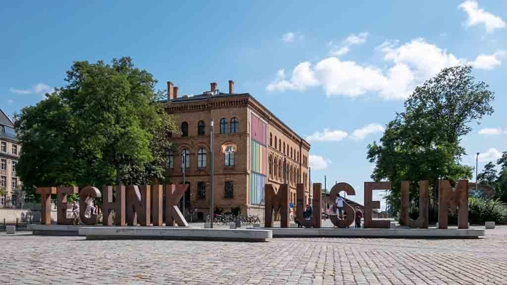 Das Deutsche Technikmuseum in Berlin Vorderansicht