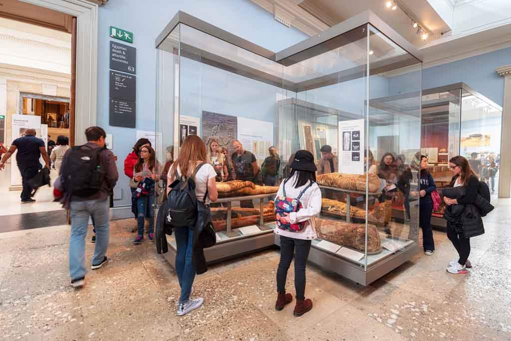 Die Mumien im British Museum in London