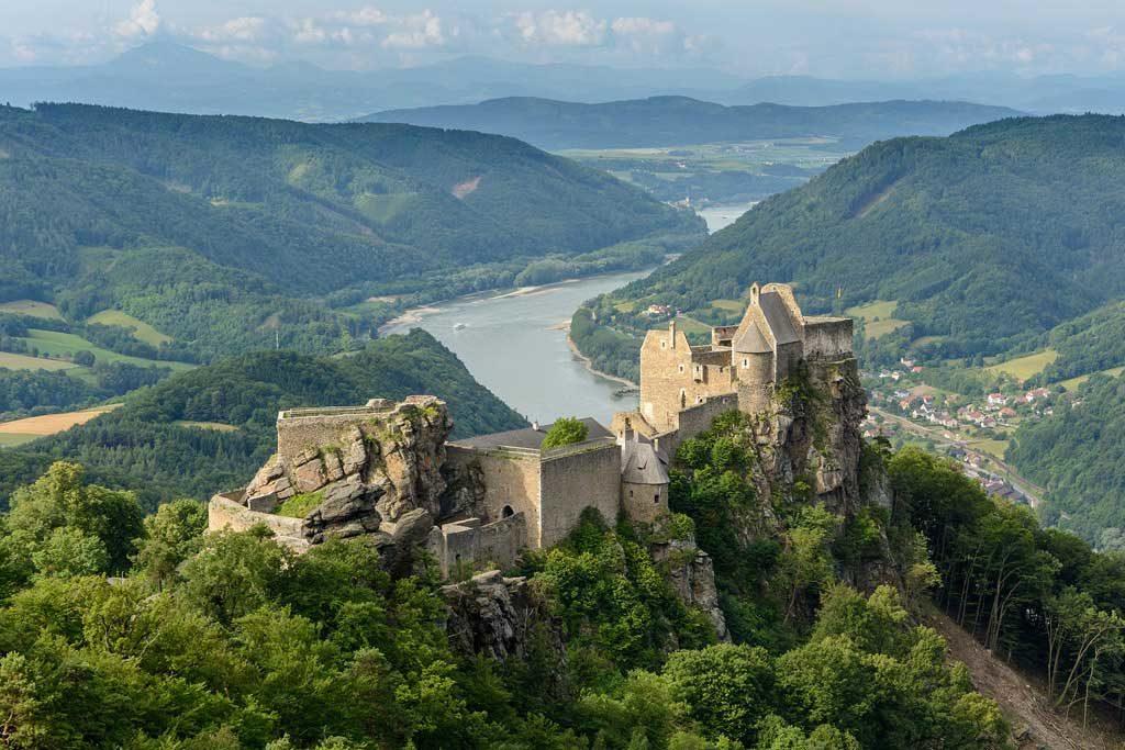 Die Burgruine Aggstein in der Wachau