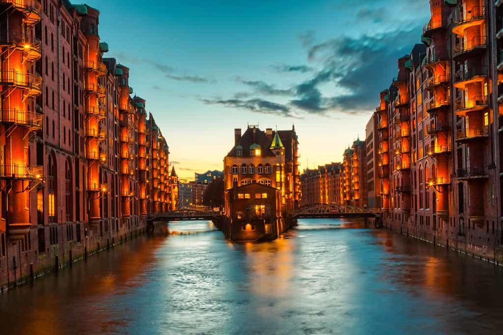 Die renovierte Speicherstadt in Hamburg