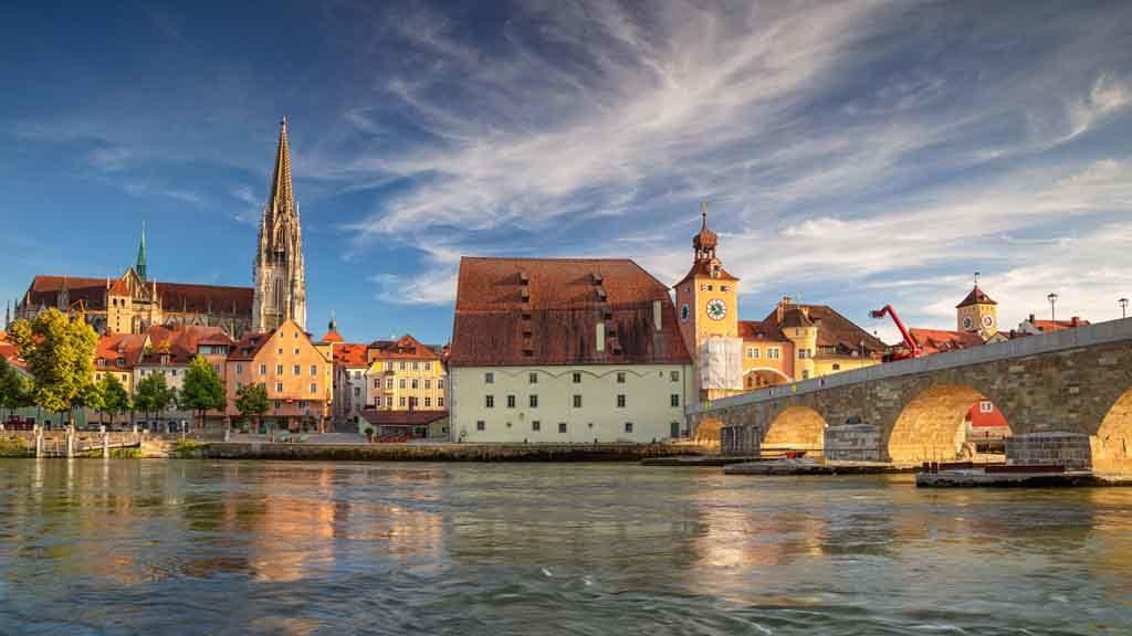 Regensburg liegt am nördlichsten Punkt der Donau