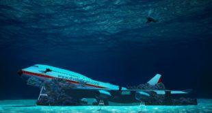 Eine Boeing 747 ist die Hauptattraktion im Unterwasser-Themenpark Foto: BTEA