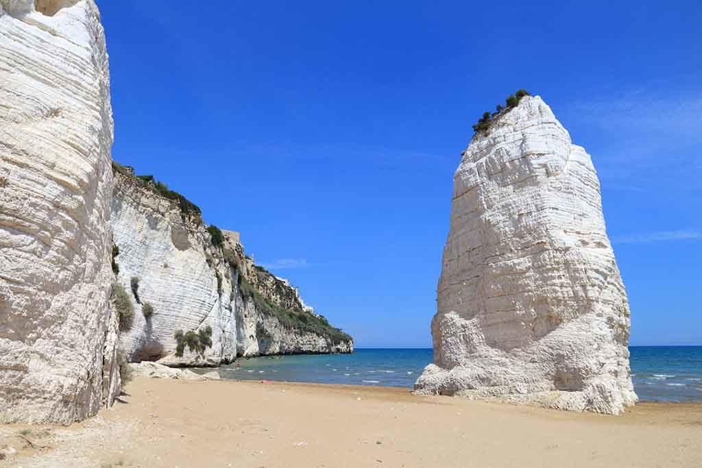 Gargano National Park in Italien - Pizzomunno Beach