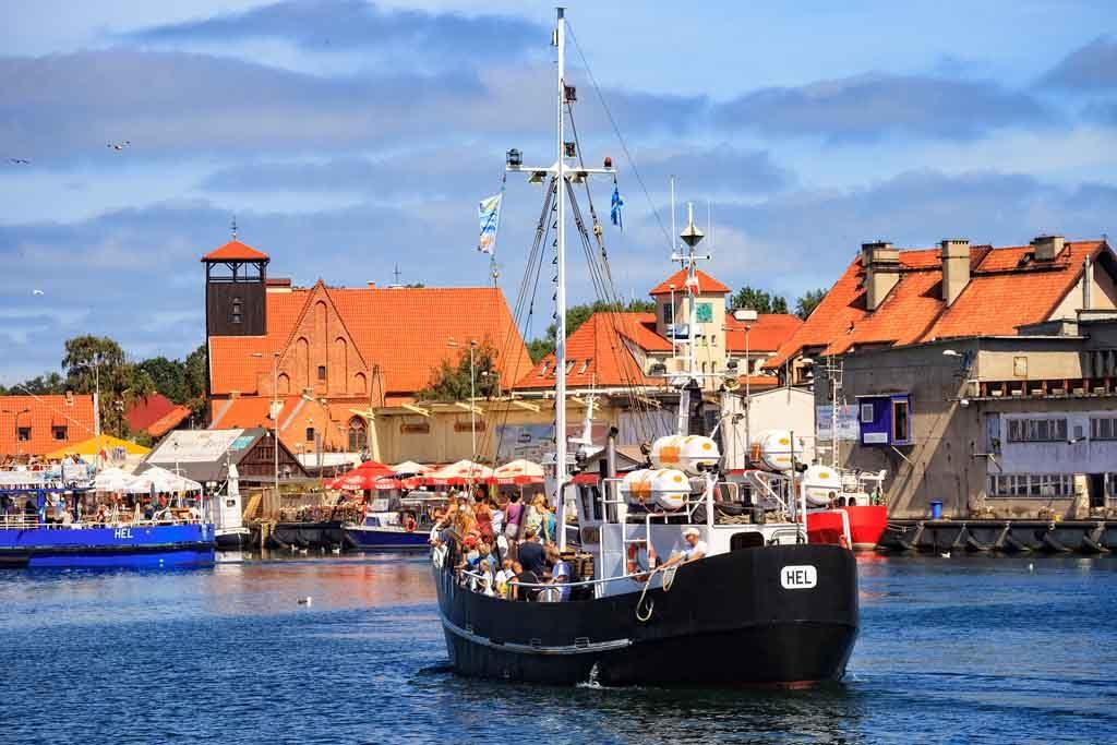 Hel ist eines der bekanntesten Kreuzfahrtziele in Polen