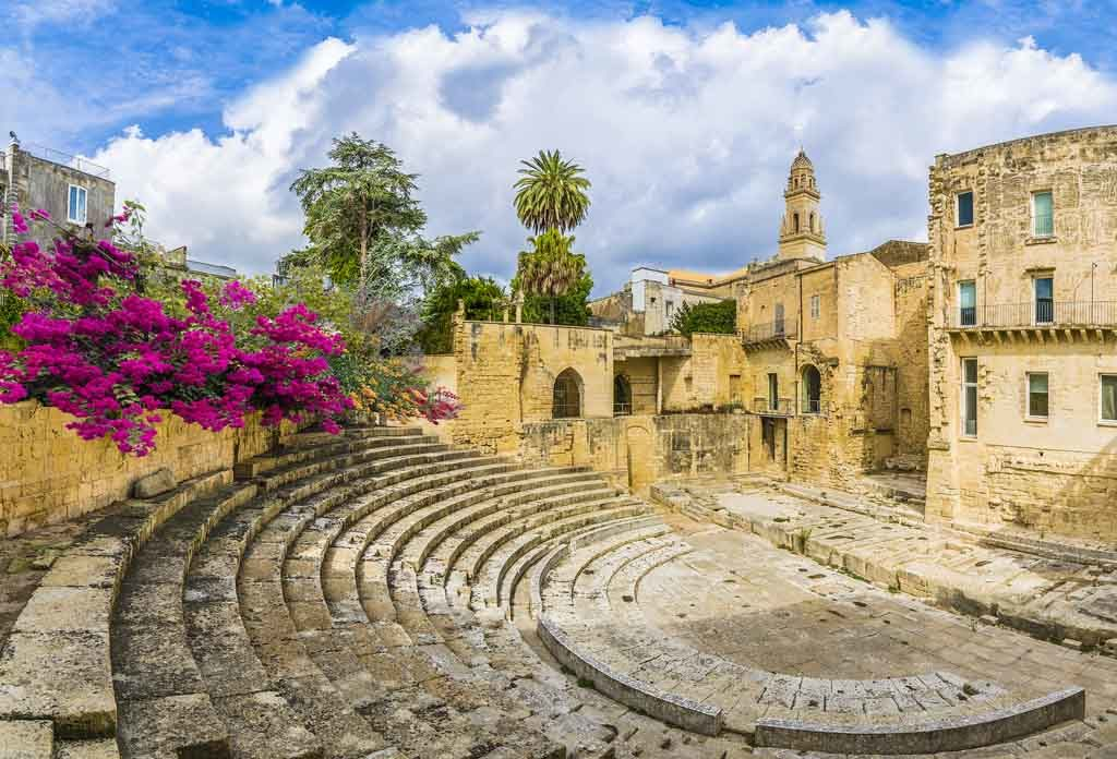 Römische Theater in Lecce, Italien