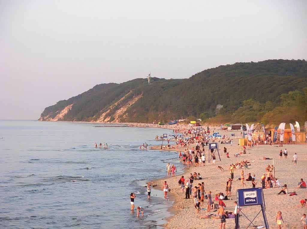Der Ostseestrand von Misdroy befindet auf der Insel Wollin, Polen