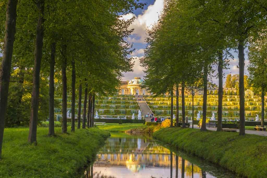 Die Spazierwege im Park Sanssouci sind insgesamt 70 Kilometer lang