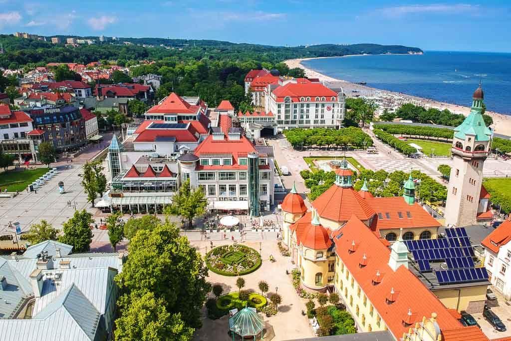 Der Badeort Sopot in Polen gilt heute als Partyhochburg