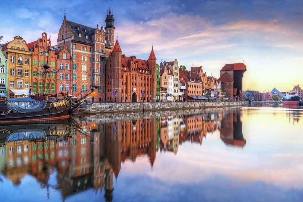 Der Hafen von Danzig, Polen