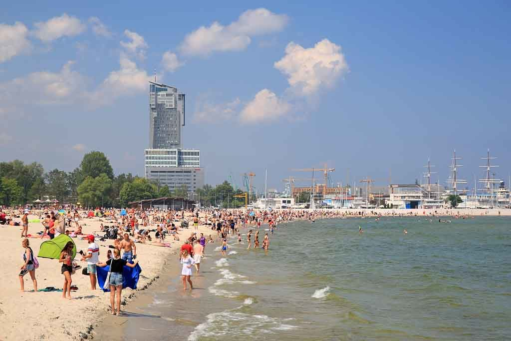Die Hafenstadt Gdingen, Polen