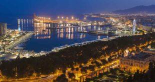 Der Hafen von Malaga, Spanien