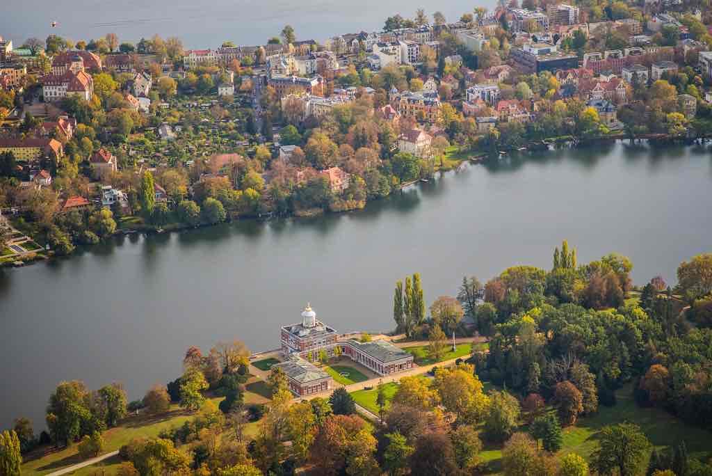 Blick auf den Heiligen See in Potsdam