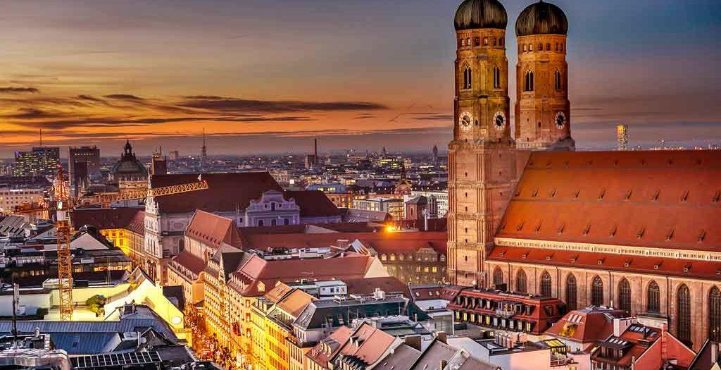 Blick auf die Altstadt von München
