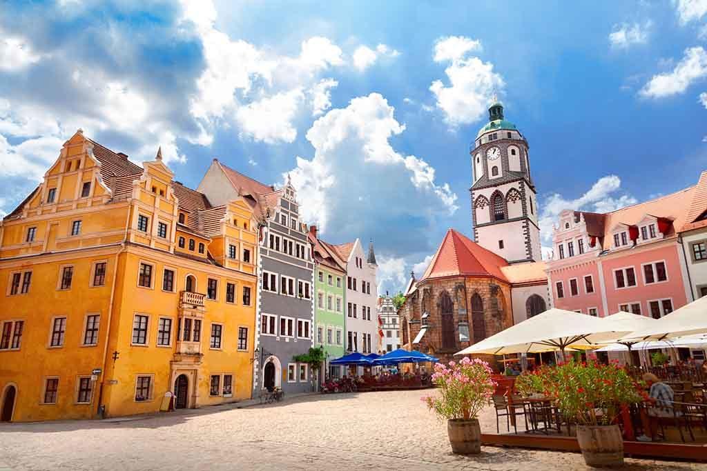 Die Altstadt von Meissen mit der Frauenkirche