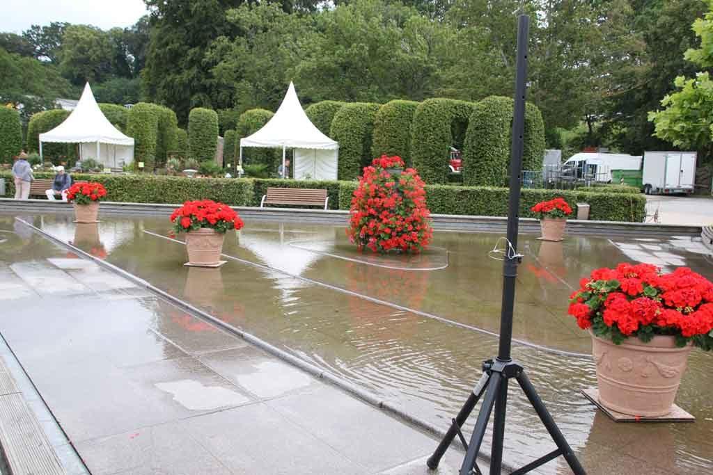 Die Waserspeile der Bernsteinpromenade von Göhren