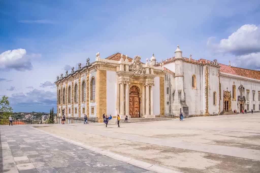 Ausblick vom Platz der Universität Coimbra, Portugal