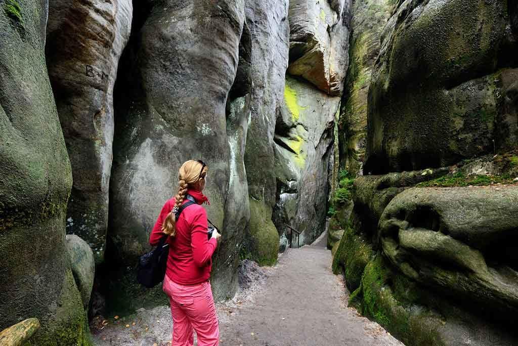 Die Felsenstadt Adersbach in Tschechien